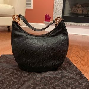 Black Leather Authentic Gucci bag